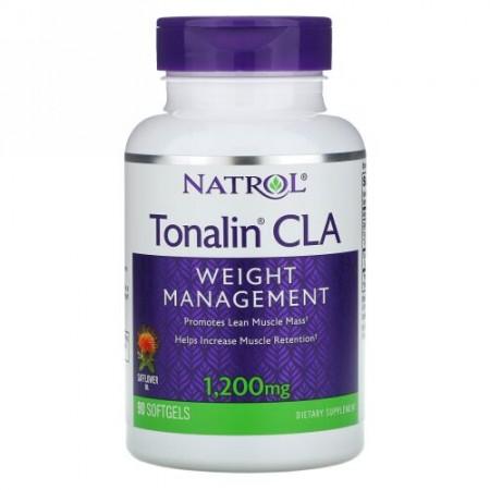 Natrol, Tonalin®(トナリン)共役リノール酸、1200mg、ソフトジェル90粒