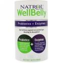 Natrol, WellBelly(ウェル・ベリー)、プロバイオティクス + 酵素、カプセル30個 (Discontinued Item)