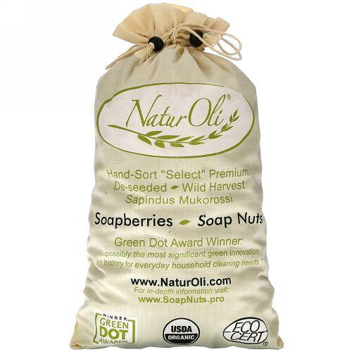 NaturOli, オーガニック, 手選別の石鹸 , ムスリム巾着袋入りナッツ、2袋、32オンス