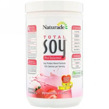 Naturade, Total Soy(トータルソイ)、食事代替品、ストロベリークリーム、507g(17.88オンス)
