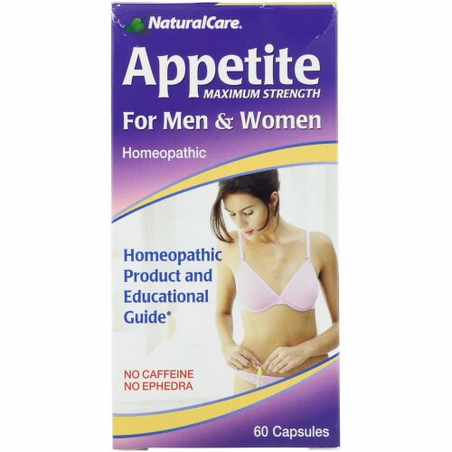 NaturalCare, アペタイト、 最高強度、 男性 &女性用、 カフェインフリー、 60カプセル