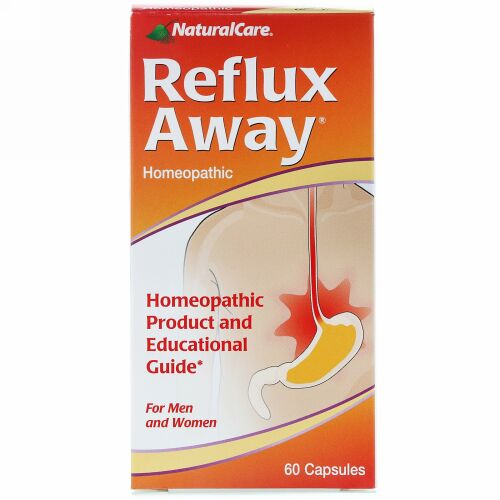 NaturalCare, Reflux-Away, For Men and Women, 60 Capsules