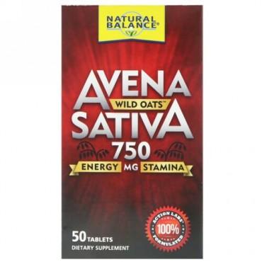 Natural Balance, Avena Sativa, Wild Oats, 750 mg , 50 Tablets (Discontinued Item)