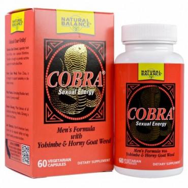 Natural Balance, Cobra Sexual Energy with Yohimbe & Horny Goat Weed, 60 Vegetarian Capsules
