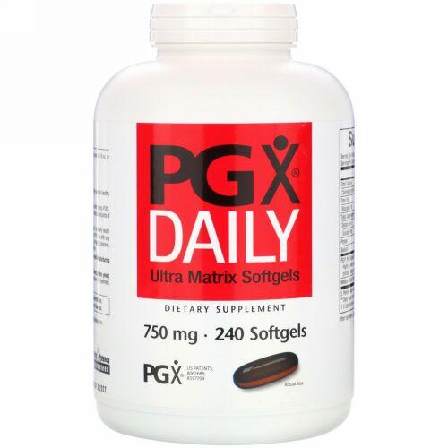 Natural Factors, PGX デイリー、ウルトラ・マトリクス・ソフトジェル、750 mg、240ソフトジェル