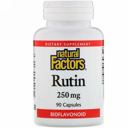 Natural Factors, ルチン、 250 mg、 90カプセル