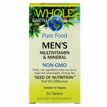Natural Factors, ホールアース&シー、男性のマルチビタミン&ミネラル、 60錠