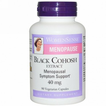 Natural Factors, WomenSense, Menopause, Black Cohosh Extract, 40 mg, 90 Vegetarian Capsules (Discontinued Item)
