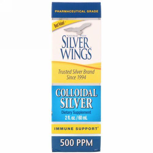 Natural Path Silver Wings, 'コロイダルシルバー, 500 ppm, 2 液量オンス (60 ml)