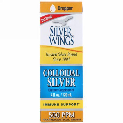Natural Path Silver Wings, コロイダルシルバー、エクストラストレングス、500 PPM、120 ml