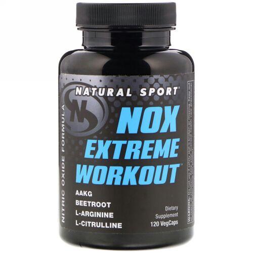 Natural Sport, NOXエクストリームワークアウト、植物性カプセル120個 (Discontinued Item)