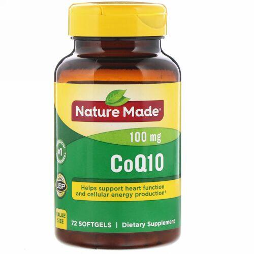 Nature Made, CoQ10, 100 mg, 72 Softgels