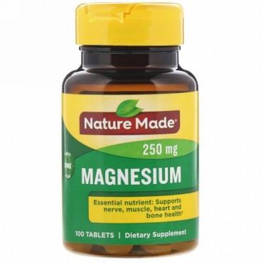 Nature Made, マグネシウム、250mg、100錠