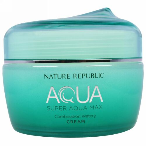 Nature Republic, アクア、 スーパーアクア マックス、 コンビネーション ウォータリークリーム、 2.70 fl oz (80 ml) (Discontinued Item)
