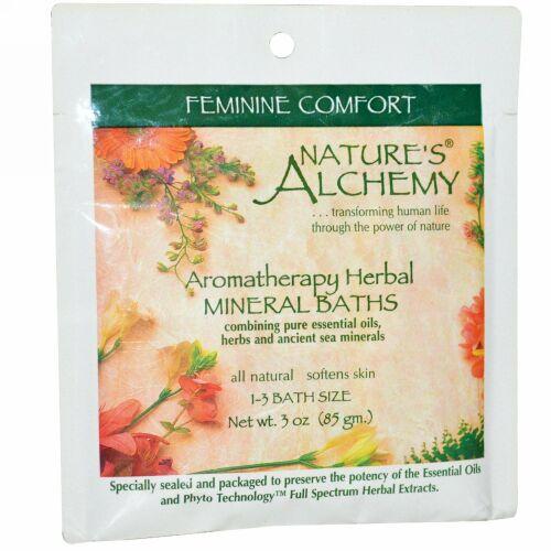Nature's Alchemy, アロマセラピー ハーブミネラル バス、女性を快適に、3オンス(85 g) (Discontinued Item)
