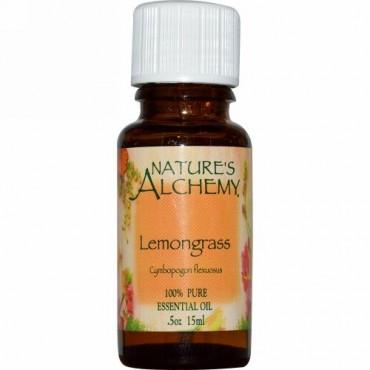 Nature's Alchemy, レモングラス、エッセンシャルオイル、 0.5 オンス (15 ml) (Discontinued Item)