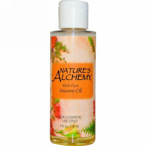 Nature's Alchemy, セサミオイル、 4 fl oz (118 ml) (Discontinued Item)