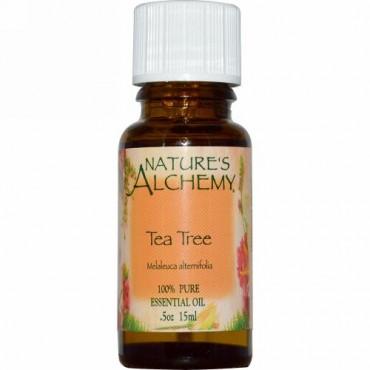 Nature's Alchemy, ティーツリー、エッセンシャルオイル、 0.5オンス (15 ml) (Discontinued Item)