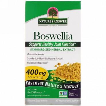 Nature's Answer, ボスウェリア、400 mg、植物性カプセル90粒