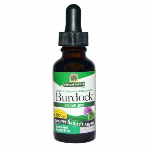 Nature's Answer, Burdock Root Extract, Alcohol-Free, 1,350 mg, 1 fl oz (30 ml)
