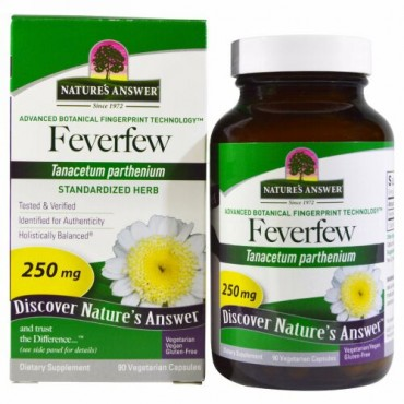 Nature's Answer, フィーバーフュー、 標準化ハーブ、 250 mg、 90植物性カプセル (Discontinued Item)