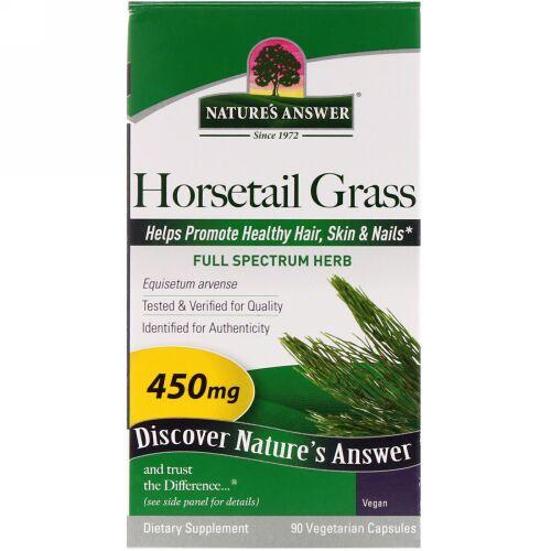 Nature's Answer, Horsetail Grass(トクサ) 450 mg, ベジカプセル90錠