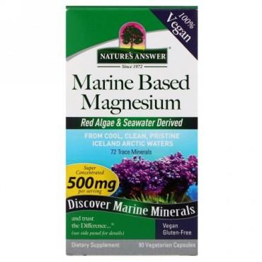Nature's Answer, Marine Based Magnesium, 500 mg, 90 Vegetarian Capsules