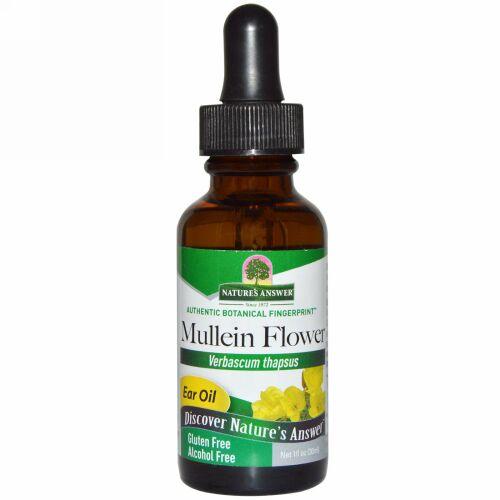 Nature's Answer, ムレイン フラワー、 いやーオイル、 アルコール 不使用、 1 fl oz (30 ml)