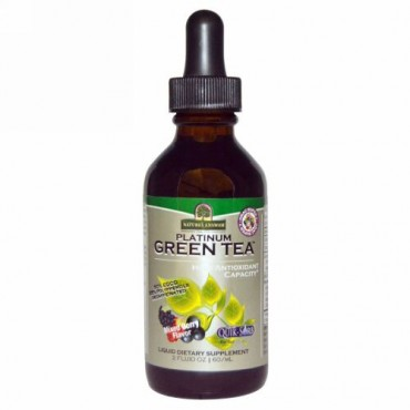 Nature's Answer, プラチナ・グリーンティー、高抗酸化物質、ミックスベリー味、2 fl oz (60 ml) (Discontinued Item)