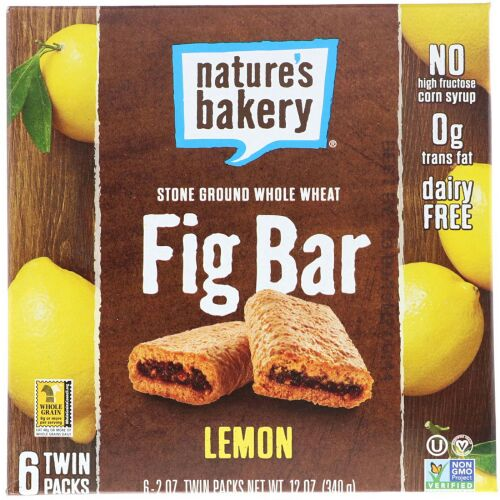 Nature's Bakery, イチジクバー、レモン、2本入りパック、各2 oz  (Discontinued Item)