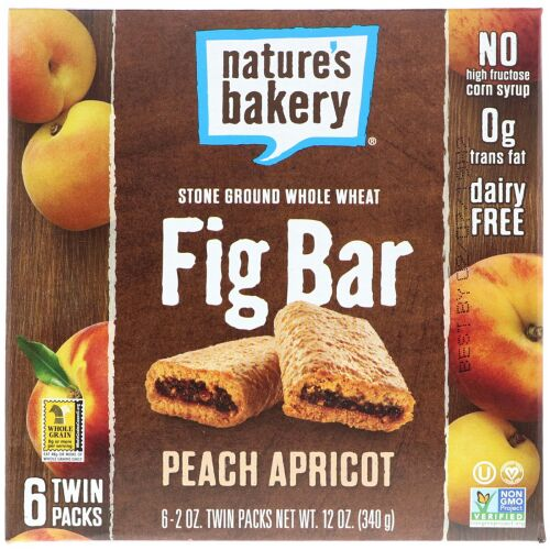 Nature's Bakery, イチジクバー、ピーチアプリコット、2本入り6パック、各2 oz (Discontinued Item)