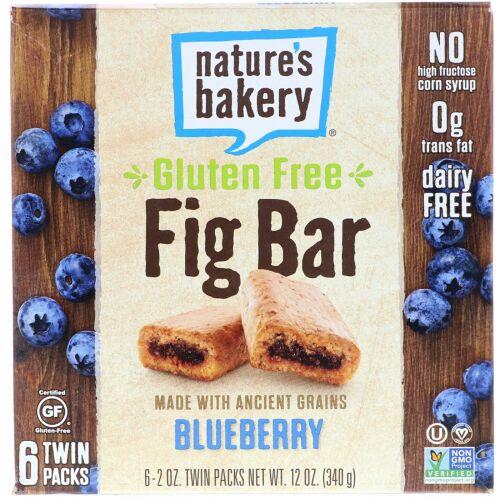 Nature's Bakery, グルテンフリーのイチジクバー、ブルーベリー、ツインパック6個、各2 oz (Discontinued Item)