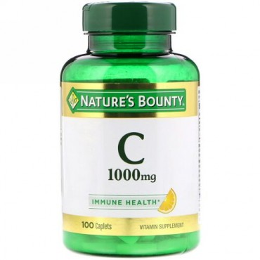 Nature's Bounty, Vitamin C, 1,000 mg, 100 Caplets