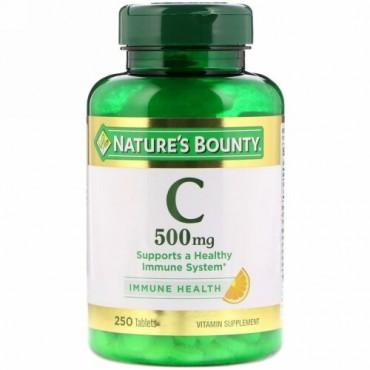 Nature's Bounty, ビタミンC、 500 mg、 250タブレット