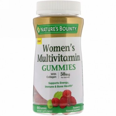 Nature's Bounty, 女性用マルチビタミングミ、ラズベリー味、50mg、グミ90個