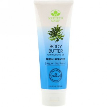 Nature's Gate, Body Butter, Fresh Scented, 8 fl oz (237 ml) (Discontinued Item)