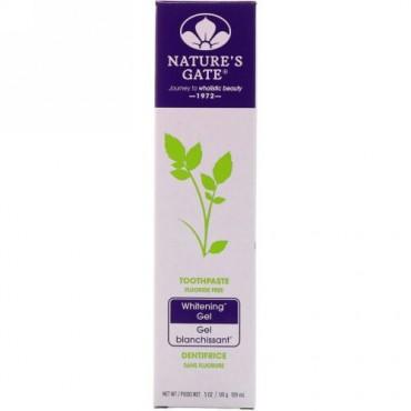 Nature's Gate, ホワイトニングゼリー歯磨き, フッ化物フリー, 5オンス(141 g) (Discontinued Item)