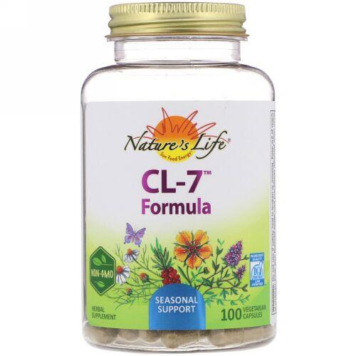 Nature's Herbs, CL-7フォーミュラ、100ベジタリアンカプセル (Discontinued Item)