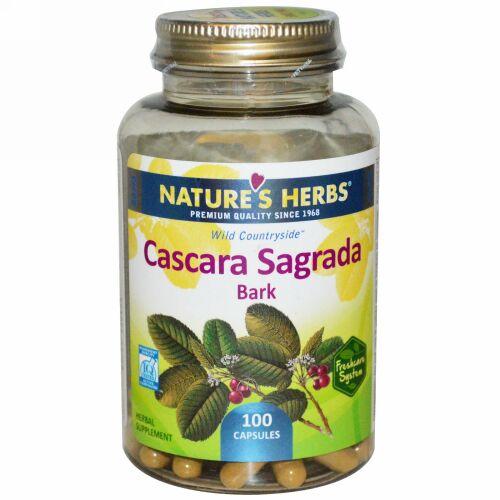 Nature's Herbs, カスカラサグラダの樹皮, 100カプセル (Discontinued Item)