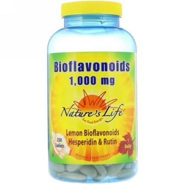 Nature's Life, バイオフラボノイド、1000mg、250粒