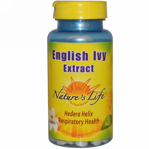 Nature's Life, イングリッシュアイビーエキス、90 錠 (Discontinued Item)