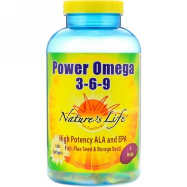 Nature's Life, Power Omega 3-6-9, 120 Softgels (Discontinued Item)
