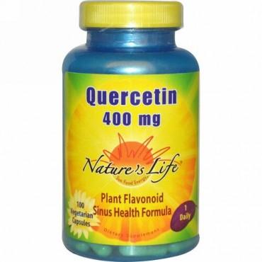 Nature's Life, ケルセチン、400 mg、ベジキャップ使用 100 錠