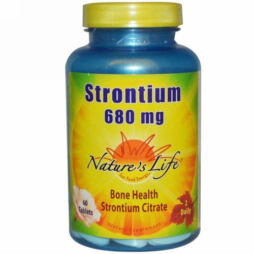 Nature's Life, ストロンチウム、680 mg、60 錠