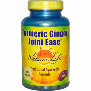 Nature's Life, Turmeric Ginger Joint Ease、カプセル100錠