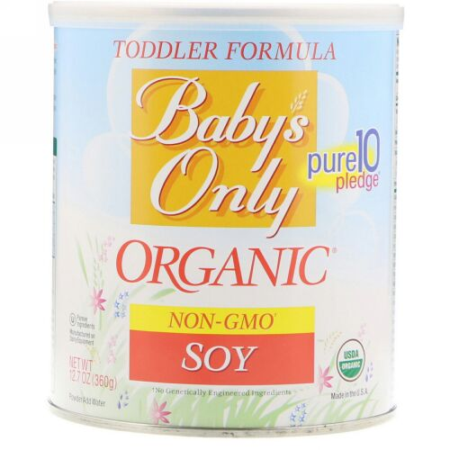 Nature's One, ベビーズオンリーオーガニック、幼児用フォーミュラ、大豆、12.7 oz (360 g) (Discontinued Item)
