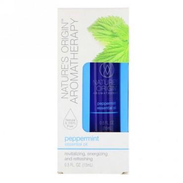 Nature's Origin, Aromatherapy, Essential Oil, Peppermint, 0.5 floz (15 ml) (Discontinued Item)