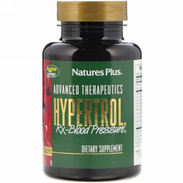 Nature's Plus, アドバンスト・セラピューティック、 Hypertrol RX Blood Pressure、タブレット60錠