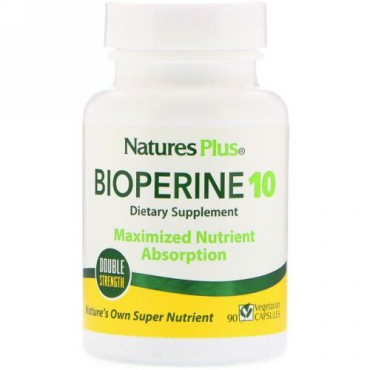 Nature's Plus, バイオペリン 10、90ベジタリアンカプセル