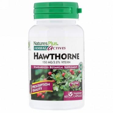 Nature's Plus, ハーバル・アクティブス、サンザシ、 150 mg、ベジキャップ60 錠 (Discontinued Item)